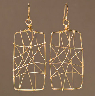 currie earring gold filled rectangle